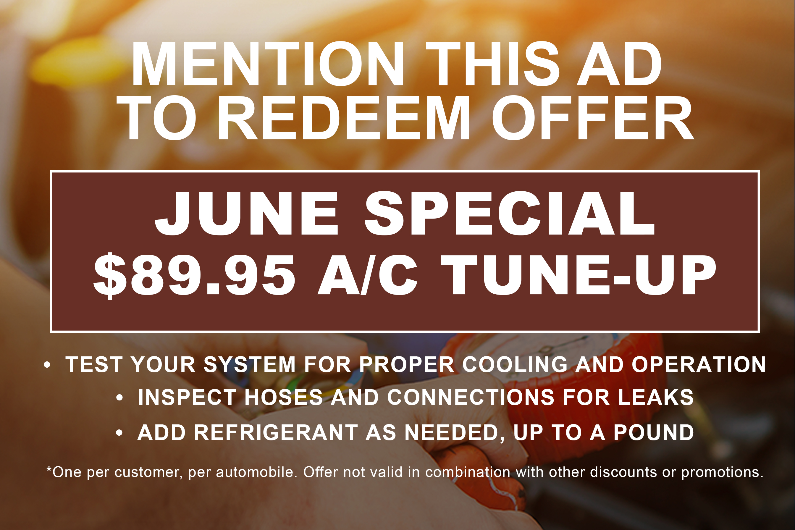 June Tune Up Special