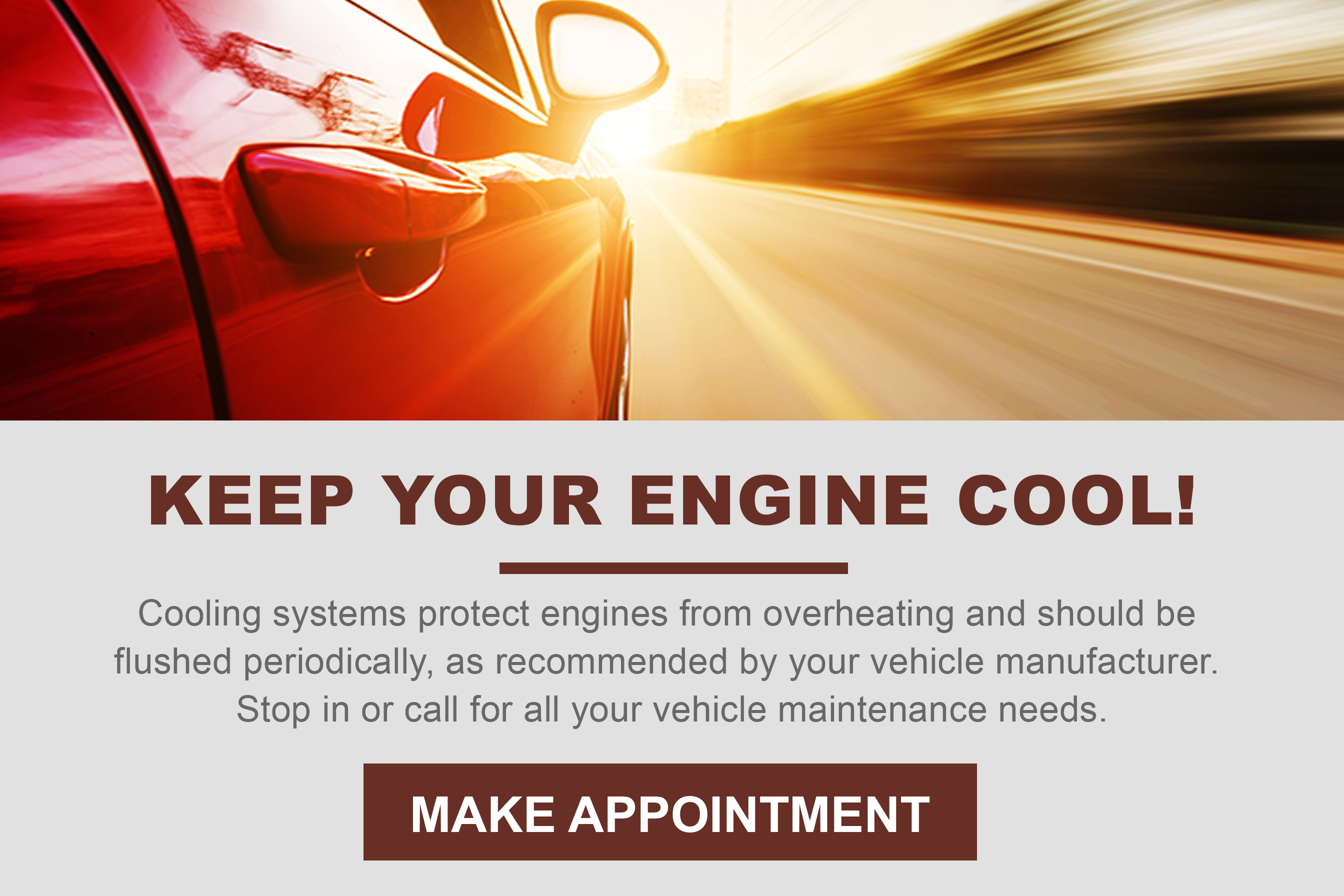 Keep Your Engine Cool